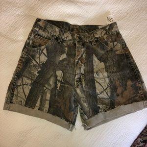 Camo Jean shorts